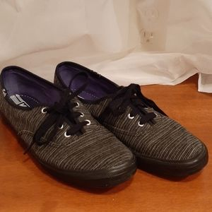 Excellent Condition Grey Striped Keds size 7